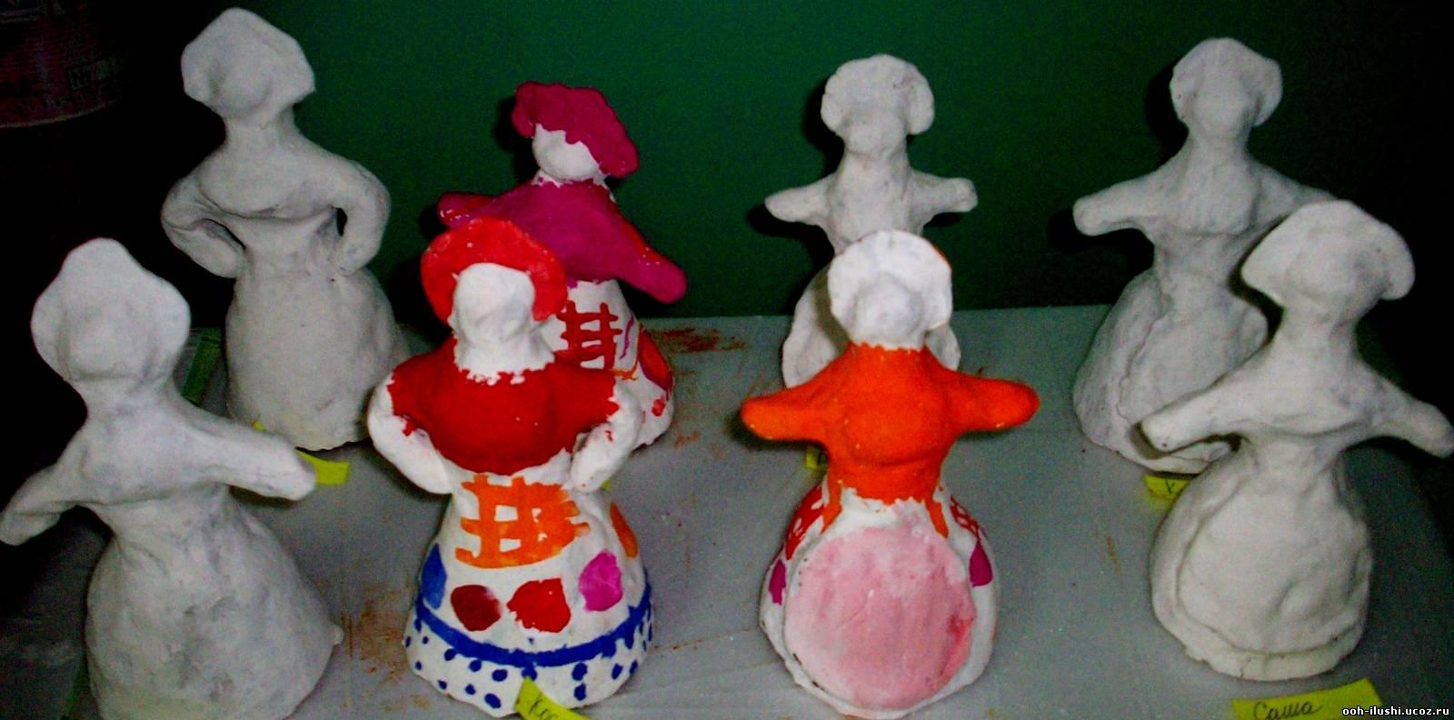 Дымковская игрушка : дымковская игрушка своими руками, мастер класс 394